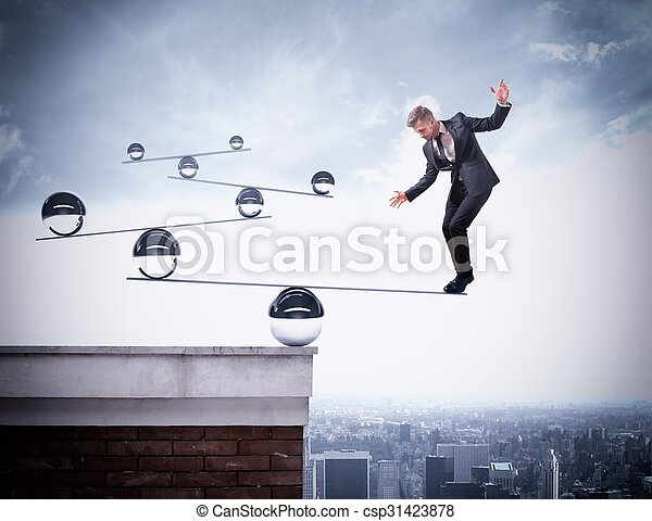 Businessman skill of balance - csp31423878