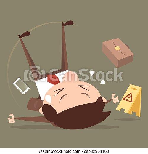 Businessman slipping - csp32954160