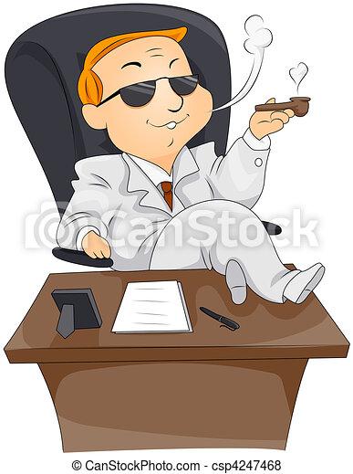 Businessman Smoking - csp4247468