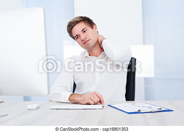 Businessman Suffering From Pain - csp16801353