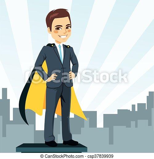 Businessman Super Hero - csp37839939