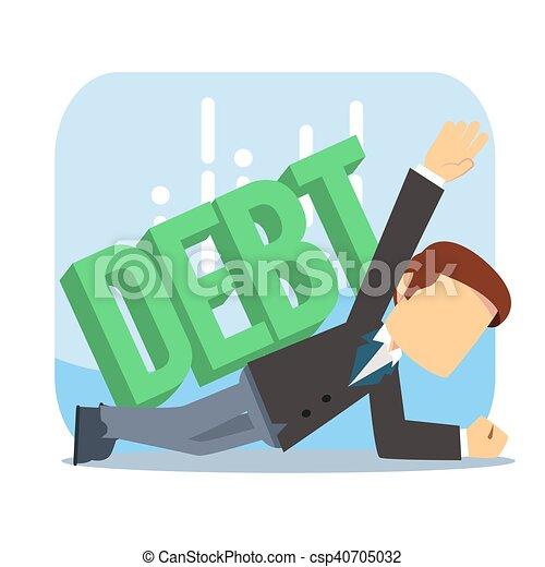 businessman surpressed by debt - csp40705032