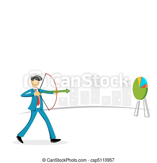 businessman targeting on board - csp5110957