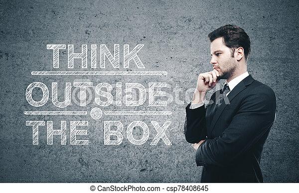 Businessman thinking - csp78408645