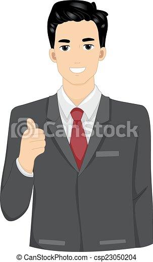 Businessman Thumbs Up - csp23050204