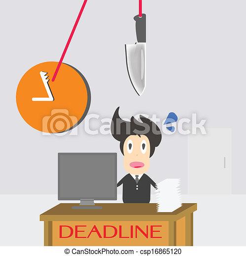 Businessman Time Deadline - csp16865120