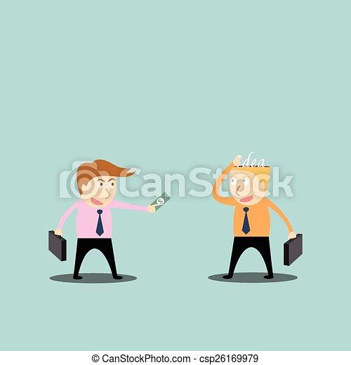 Businessman trading ideas - csp26169979