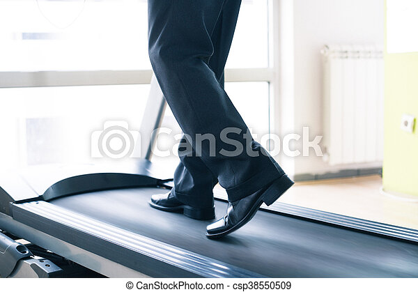 Businessman training in gym - csp38550509
