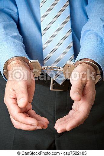 businessman under arrest - csp7522105