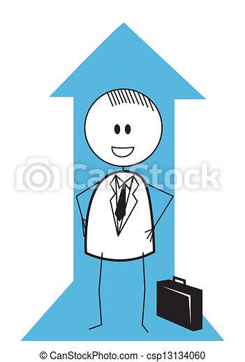 businessman up chart - csp13134060