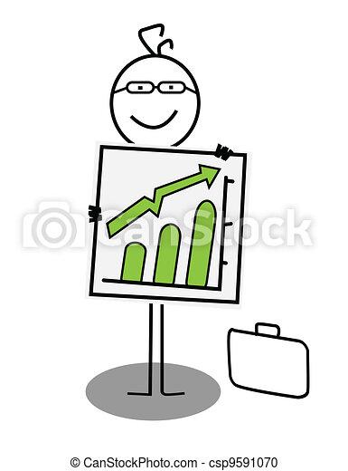 businessman Up chart - csp9591070