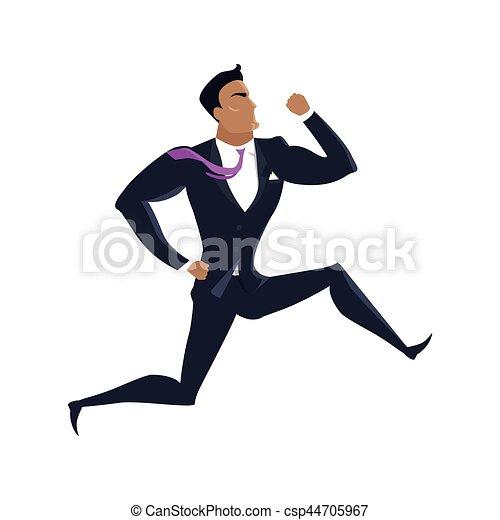 Businessman Vector Illustration in Flat Design. - csp44705967