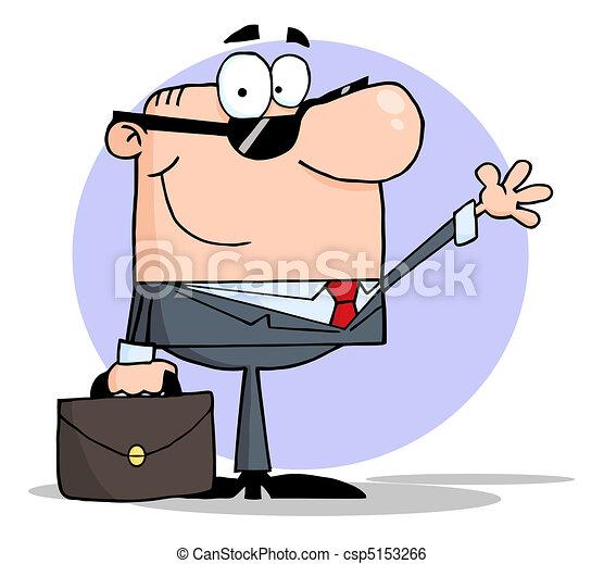 businessman waving a greeting friendly white businessman clip rh canstockphoto com businessman clipart png businessman clipart png