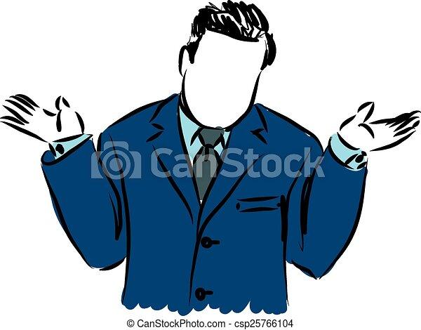 businessman why illustration - csp25766104
