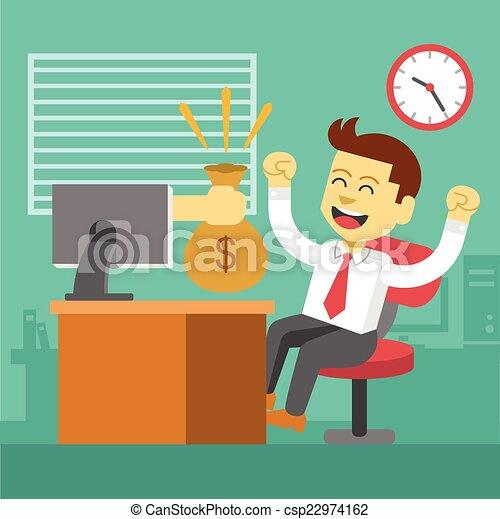 Businessman win - csp22974162