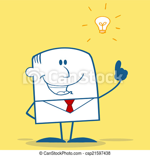 Businessman With A Bright Idea  - csp21597438
