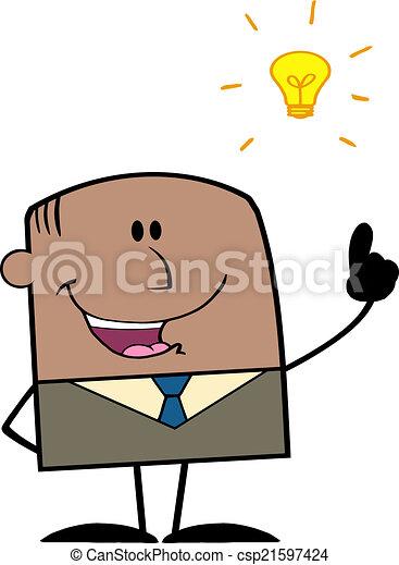 Businessman With A Bright Idea - csp21597424