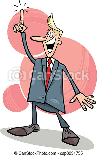 businessman with an idea - csp8231755