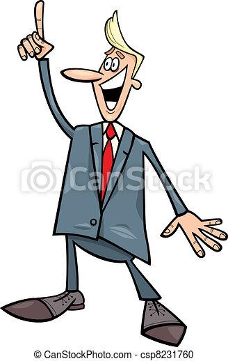 businessman with an idea - csp8231760