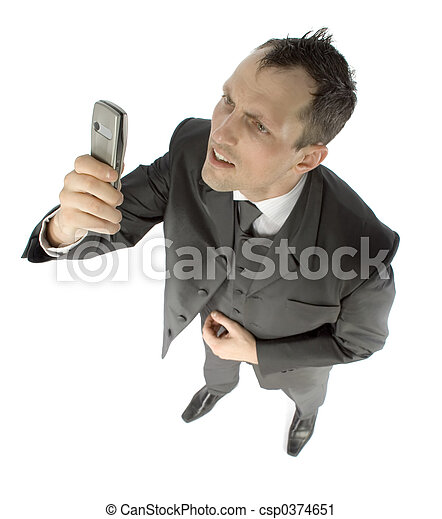 businessman with cell phone - csp0374651