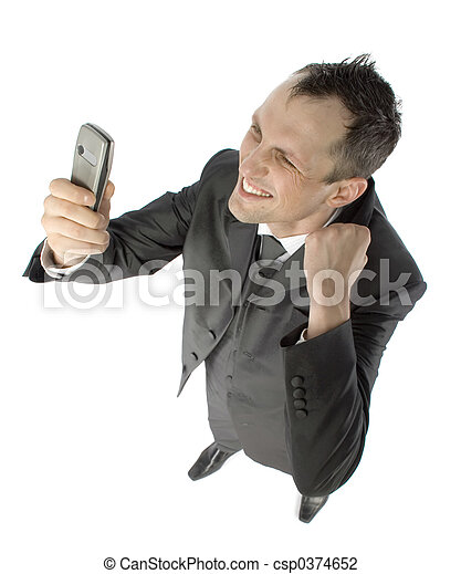 businessman with cell phone - csp0374652