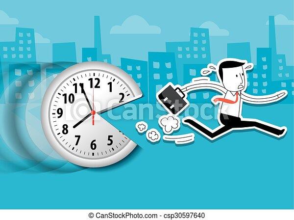 businessman with clock - csp30597640