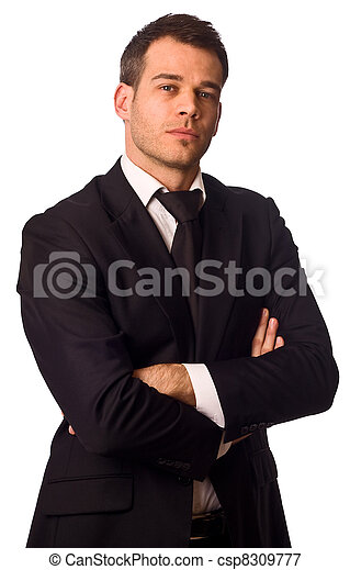 businessman with crossed arms.  - csp8309777