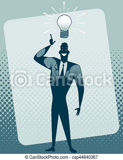 Businessman with idea - csp44840367