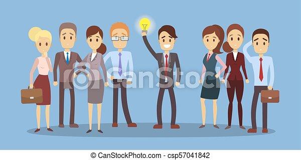 Businessman with idea. - csp57041842