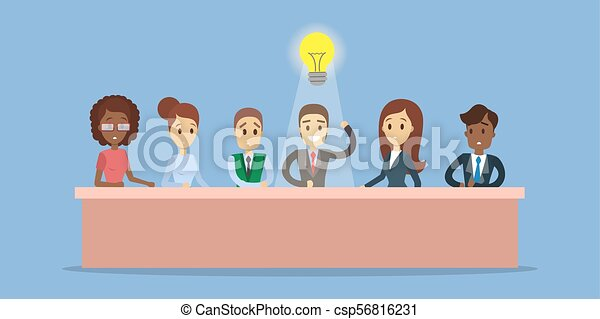 Businessman with idea. - csp56816231