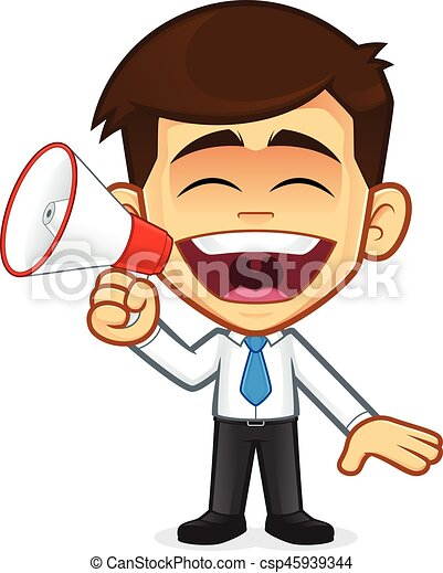 businessman with megaphone clipart picture of a businessman eps rh canstockphoto com