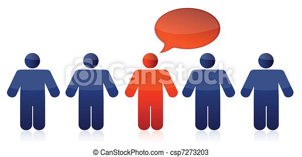 businessman with message bubble - csp7273203