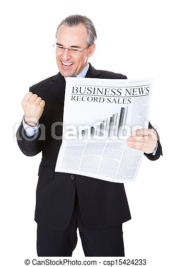 Businessman With Newspaper - csp15424233