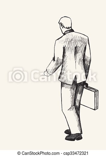 Businessman with suitcase csp33472321