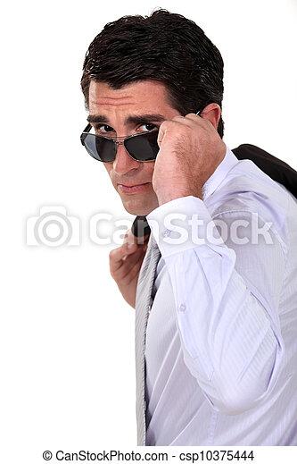Businessman with sunglasses - csp10375444