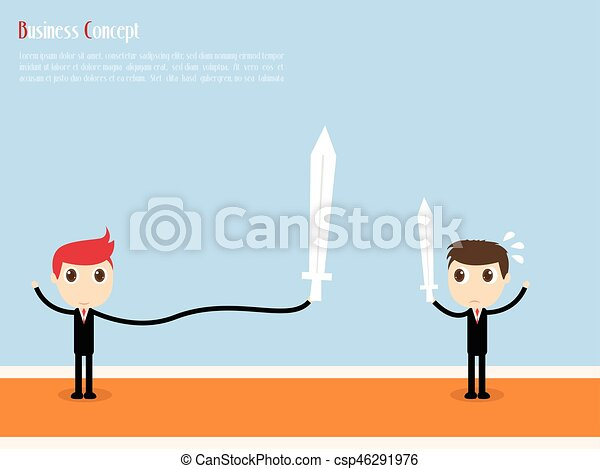 Businessman with Target For success, vector illustration - csp46291976