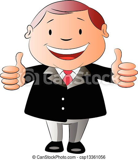 businessman with two thumbs up illustration businessman with two rh canstockphoto com clipart + 2 thumbs up Two Thumbs Up Drawing