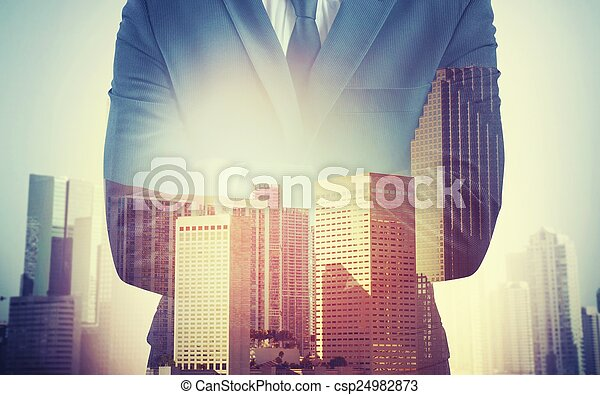 Businessman work commitment - csp24982873