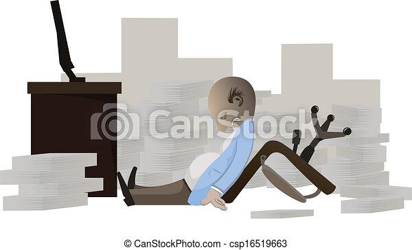businessman work so hard - csp16519663