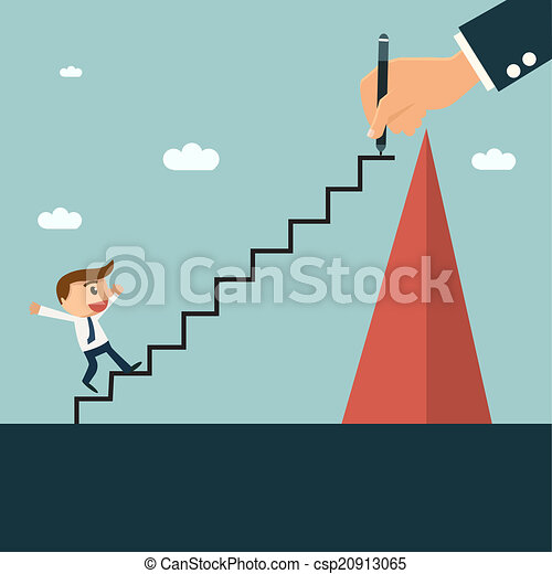 Businessman writting ladder for his partner to easy climbing hill, mentor and partnership concept. - csp20913065