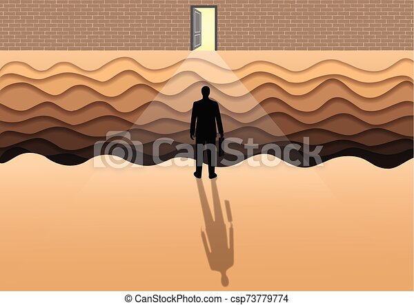 Businessmen are competing for the ultimate organizational success. The goal is to open the door to success. Obstacles to the success of your business can be difficult. - csp73779774