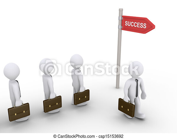 Businessmen find the way to success - csp15153692