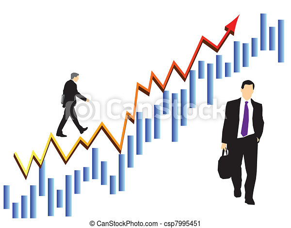 businessmen in stock market vector clip art search illustration rh canstockphoto com stock market chart clip art stock market clipart free