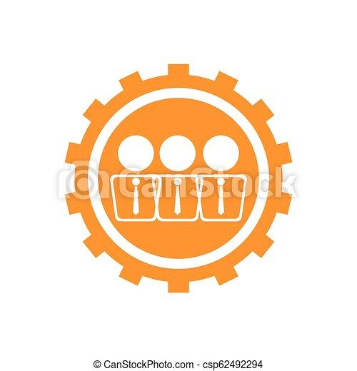 Businessmen on a gear icon - csp62492294