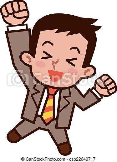businessmen rejoice vector illustration vector clip art search rh canstockphoto com Rejoice Clip Art Lettering Rejoice in the Lord