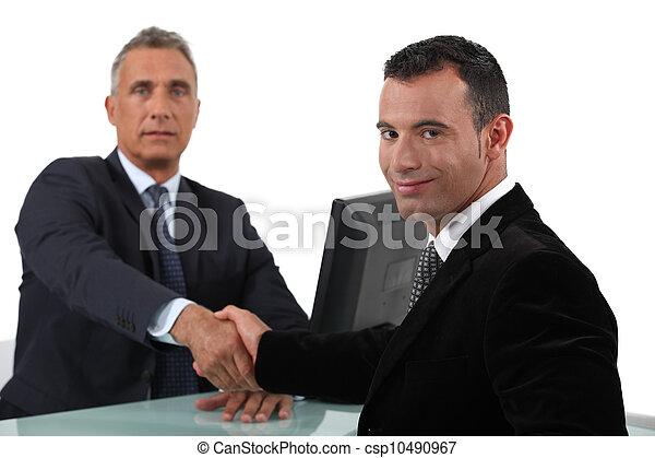 businessmen shaking hands - csp10490967