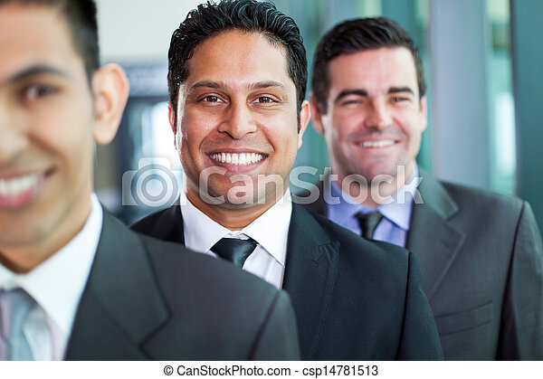 businessmen standing in a row - csp14781513