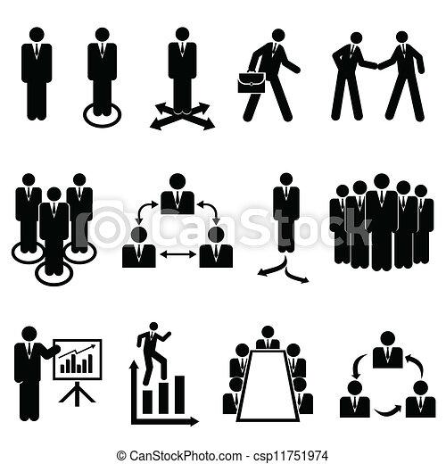 Businessmen, teams and teamwork - csp11751974