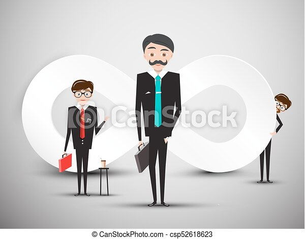 Businessmen With Infinity Symbol Vector