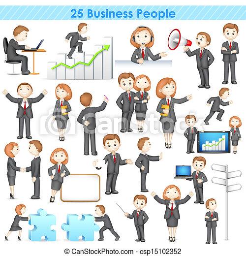 businesspeople, コレクション, 3d - csp15102352